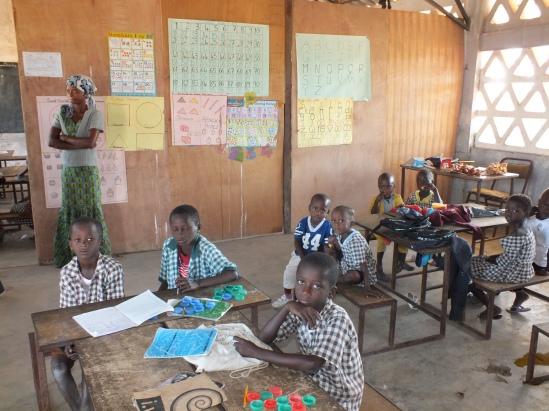 Een schooltje in Gambia