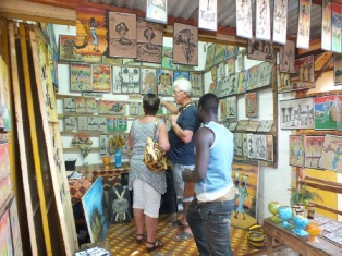 Albert markt in Banjul souvenirs