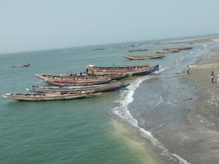 Prachtig uitzicht op de traditonele bootjes