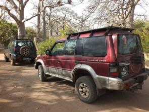 Jeeps die gebruikt worden voor de excursies