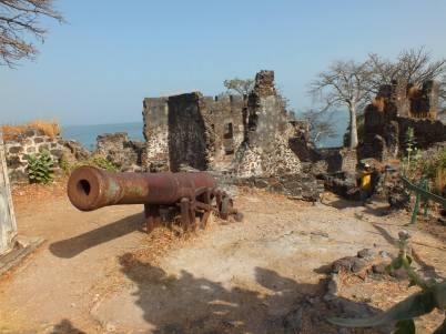 Kanon op Kunta Kinteh Island in Gambia
